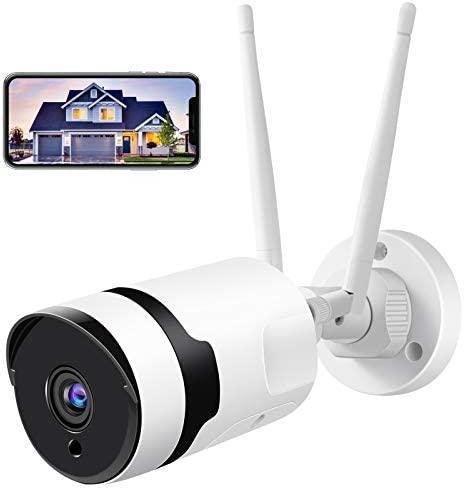 Security Camera Outdoor HJSHI 1080p Home WiFi Surveillance Camera with Dual WiFi Antenna Two product image