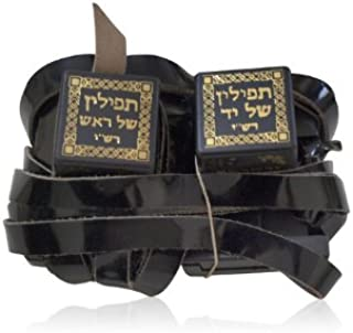 Nusach Sephard Dakkot Tefillin with Black Straps and Sephardic Script