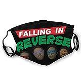 Chhome Falling In Reverse Unisex Variedad Cara Bufanda Cuello Leggings A Prueba de Viento Bufanda Turbante Pasamontañas Deportes