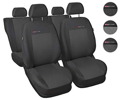 Carpendo Sitzbezüge Auto Set Autositzbezüge Schonbezüge Dunkelgrau-Grau Vordersitze und Rücksitze - Airbag geeignet - P3