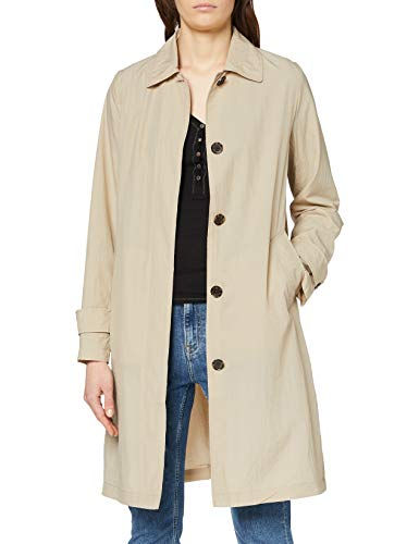 Tommy Hilfiger Claudia Packable Crinkle Mac Gabardina, Beige (Light Stone Aeq), 85 (Talla del Fabricante: 32) para Mujer