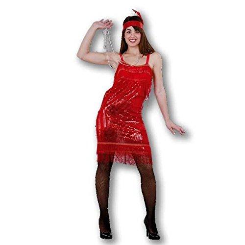 Juguetes Fantasia - Disfraz charlestone adulto rojo