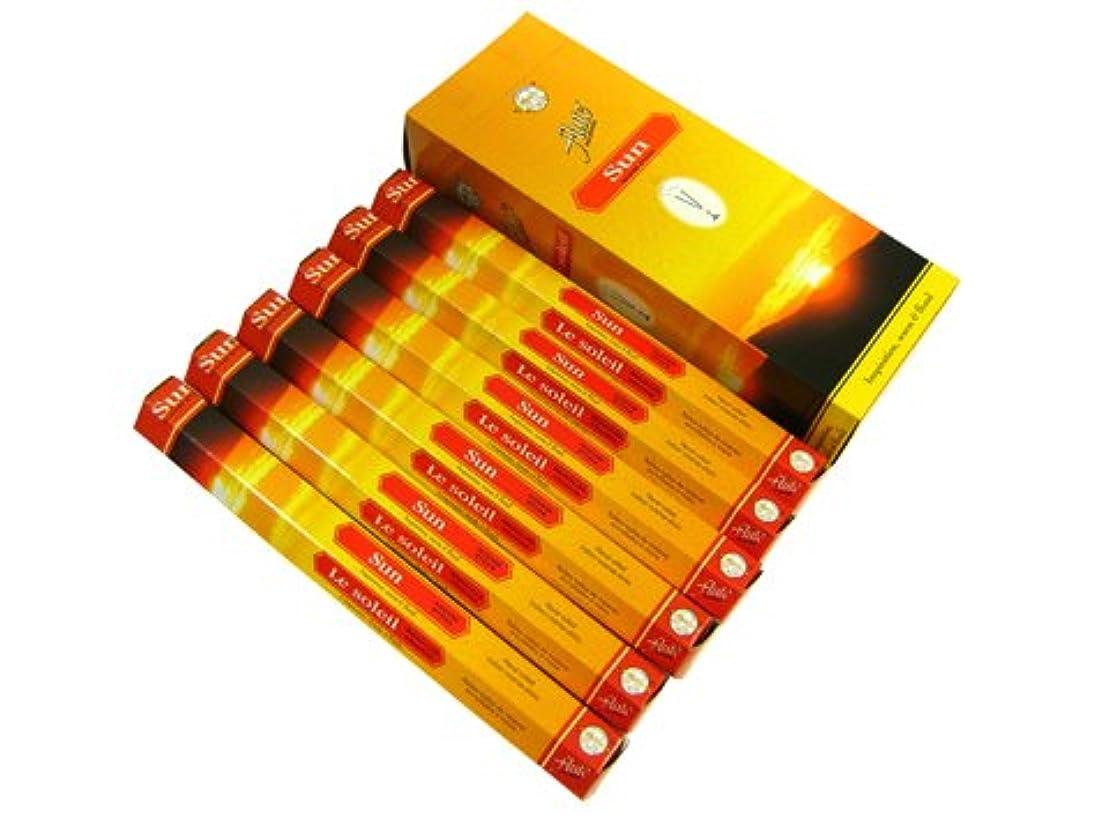 ペデスタル燃やすアコードFLUTE(フルート) サン香 スティック SUN 6箱セット
