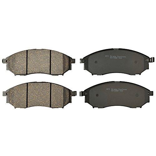 KFE KFE888-104 Ultra QuietAdvanced Premium Ceramic Brake Pad FRONT Set Compatible With: Nissan Murano,Pathfinder 5.6L,350Z,370Z; G35,G37,G25,EX35,EX37,FX35,FX37,FX45,M35,M37,M45,M56,Q,QX