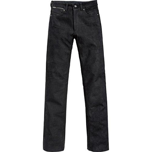 Spirit Motors Motorrad Jeans Motorradhose Motorradjeans Klassik Velourslederhose 1.0 schwarz 52, Herren, Chopper/Cruiser, Ganzjährig