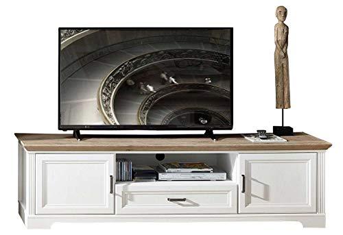 TV-Lowboard Fernsehschrank Fernsehtisch | Weiß | Pinie | Artisan Eiche | 1 Tür | 1 Schublade