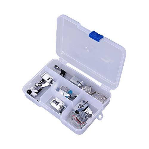 TinkSky Nähfuß-Set, multifunktional, geeignet für die meisten Nähmaschinen im Hausgebrauch, 15 Teile