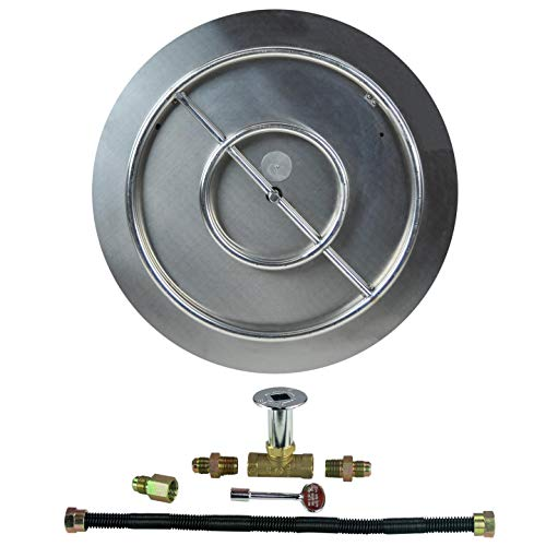 Dreffco (The Original 22' NG Stainless Steel Burner Pan with 18' Stainless Steel Ring Fire Pit Kit