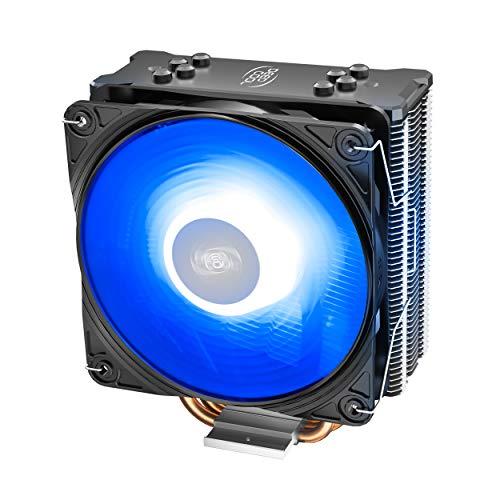 DEEP COOL GAMMAXX GTE V2, 4 Tubos de Calor, Ventiladores PWM RGB de 120 mm, Cubierta Superior Negra, Compatibles con LGA1200 / AM4