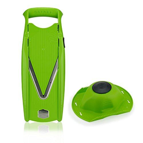 Börner Powerline Basic Set V5 mandolina Slicer en Verde: Cortador de Verduras y Frutas Profesional