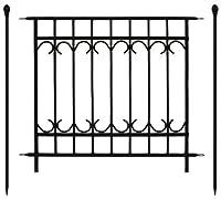 ガーデンガーデン 門扉付きの柵が作れるロゼッタシステムフェンス アベニュー 基本セット ブラック SSIPN-7021FSET-BLK