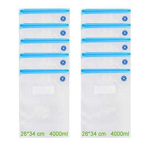 Bello Luna 10 Piezas de Bolsas de Alimentos al vacío, 26 * 34 cm BPA Bolsas de sellador al vacío para Sous Vide y Foodsaver