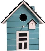 CasaJame Holz Vogelhaus für Balkon und Garten, Nistkasten, Haus für Vögel, Vogelhäuschen, 20 x 17 x 12cm