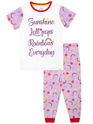 Harry Bear Girls Pyjamas Rainbows and Lollipops Purple Age 11 to 12 Years