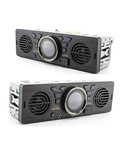 Autoradio con 2 Altoparlanti incorporati 12V Bluetooth Vivavoce FM USB SD AUX in Audio in Dash Stereo MP3 Player