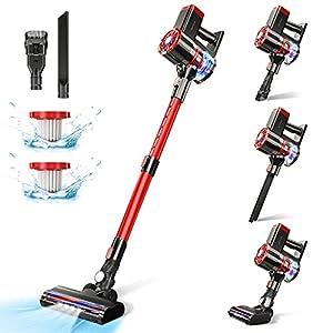 Cordless Vacuum Cleaner,20KPa Stick Vacuum Cleaner 180W Portable Lightweight Vacuum Hard Floor Vacuum, 2600mAh…