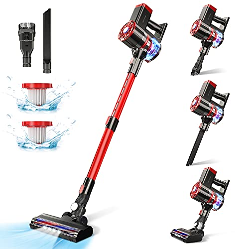 Cordless Vacuum Cleaner,20Kpa Powerful Suction Home Stick...