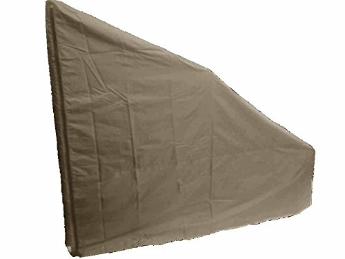 Protective Cover for Rear Drive Elliptical Machines. Heavy Duty/UV/Water Resistant Cover (Tan, Large Extra Tall)