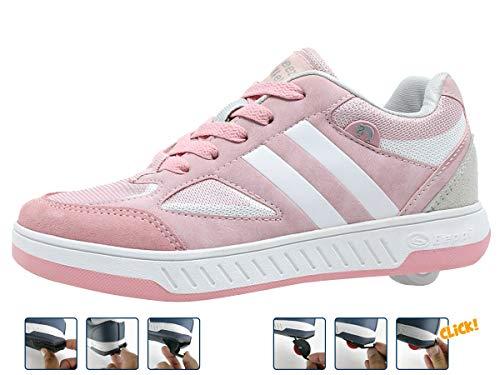 Breezy Rollers 2180183, Rollschuhe, Schuhe mit Rollen, 2-in-1 Kinderschuhe, Rollenschuhe, sportliche Sneakers (pink, 34)