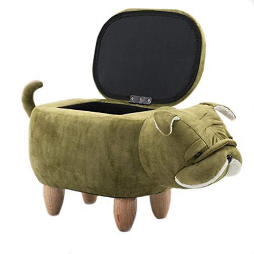 Feci del cane Poggiapiedi Ride-On poggiapiedi Animal bagagli mobili imbottiti decorativi, [Classe energetica A],Colorb