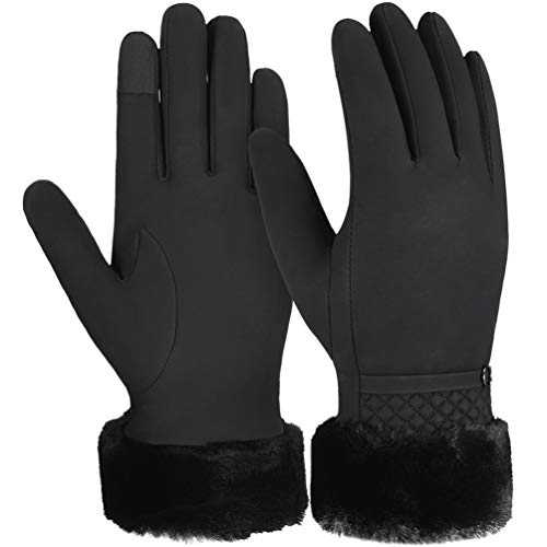 VBIGER guanti invernali caldi Touch Screen Guanti guanti addensati per tempo freddo Guanti sportivi per esterno casual per donna, neri…