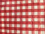 Oztrail Mantel para Picnic, o para Cualquier Mesa con Cuadros Vichy Rojo/Blanco 180x135cm...