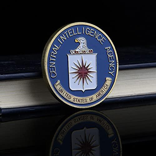 Agencia Central de Inteligencia de la CIA de los Estados Unidos Centro de Inteligencia Patrono San Miguel Reto Conmemorativo Moneda de San Miguel (viene con soporte de exhibición de monedas)