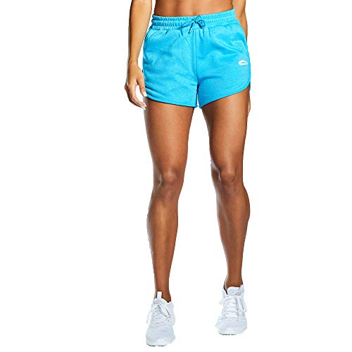 SMILODOX Damen Shorts Calm Figurformende Tight für Fitness Gym Yoga Training & Freizeit | Sporthose - Workout Trainingshose, Farbe:Blau, Größe:S