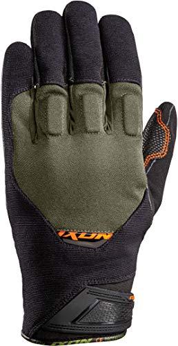 Ixon Rs Spring - Guantes de moto (talla L), color negro y caqui y naranja