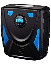 Elektrische Draagbare Bandeninflator CompressorDraagbare Luchtcompressor Bandeninflatorpomp, met Heldere LED, Auto Uitschakelen, 3 Nozzles En Adapters Voor Fietsen Basketbal Inflatables, Draadloos Gebruikt voor