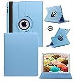 ipad 4 Generation case Rotating ipad 3 ipad 2 case for Ipad Model A1458 A1430 A 1416 Md510ll /A Mc979ll/A with Screen Protector Stand Smart Covers Support Wake/Sleep Function (Blue)