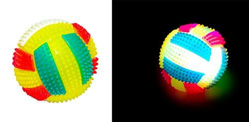 Eva Shop® Quietschender LED Ball Hundespielzeug Hundeball Squeaker Kauspielzeug - Intelligentes Spielzeug für Hunde Premium Qualität für Langlebigkeit geeignet für Große und Kleine Hunde