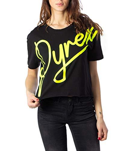 Pyrex T-Shirt Donna corsivo Fluo 40820 m Nero