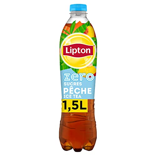 Lipton Ice Tea Thé Glacé Saveur Pêche Zéro Sucres 1,5 L
