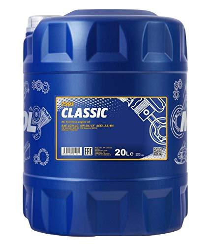 MANNOL Classic 10W-40 API SN/SM/CF Motorenöl, 20 Liter