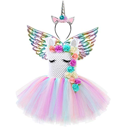 Unicorn Costume Toddler Girls 3t 4t Princess Flower Party Tutu Dresses
