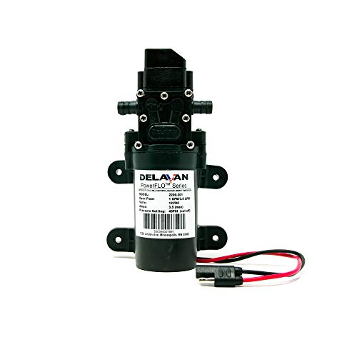 Delavan 2200-201-SB PowerFlor 2200 12 Volt Electric 40 PSI 1 GPM On Demand Diaphragm Pump