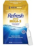 Refresh Optive Mega-3 Lubricant Eye Drops, Preservative-Free, 0.01 Fl Oz Single-Use Containers, 60 Count