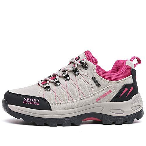 Cushioning,Breathable,Lightweight,Calzado Deportivo para Hombres y Mujeres,Zapatos de Senderismo de Gran tamaño al Aire Libre Pareja Senderismo Zapatos Casuales-Light Grey_37#
