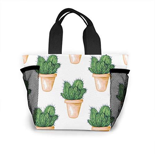not applicable Mexikanischer essbarer Kaktus oder Kakteen für wiederverwendbare Einkaufstasche Cinco De Mayo Einkaufstasche aus Ripstop-Polyester oder Lunchpaket