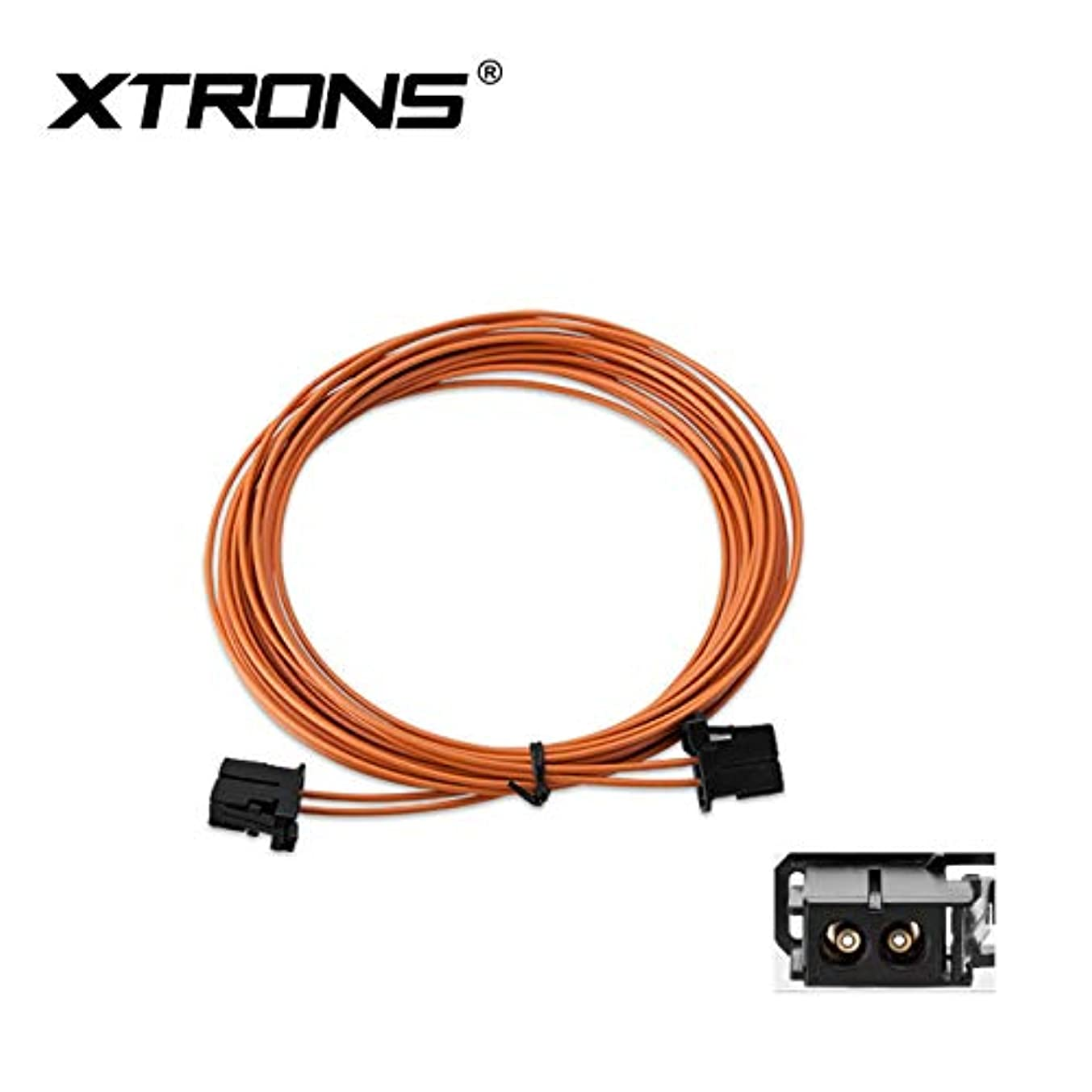 XTRONS 5m Most Fiber Optic Extension Cable Male to Male for Mercedes for BMW for Audi
