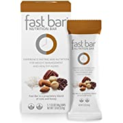Fast Bar, Nuts & Nibs, Gluten Free, Plant Based Protein, Weight Management, Intermittent Fasting 5 Count Box
