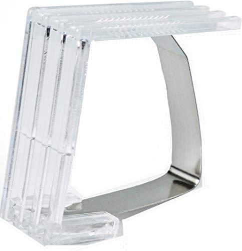 Nappe – Pinces de table – 4 agrafes – en plastique transparent – avec ressort métallique