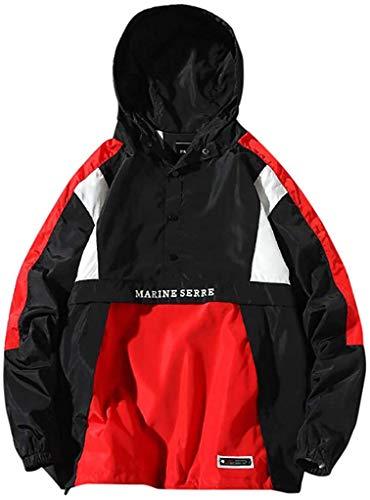 GUTSBOX Unisex Winterjacke Wintermantel Jacke Outwear Winter Warm Arbeiten Sie Festen beiläufigen dickeren dünnen Mantel um Windjacke Kapuzenjacke Streetwear Reißverschluss Jacke(Schwarz-2, S)