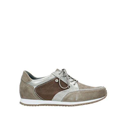 Wolky Damen Schuhe Sneaker Schnürschuh Ewood Taupe 1482415 (40 EU)