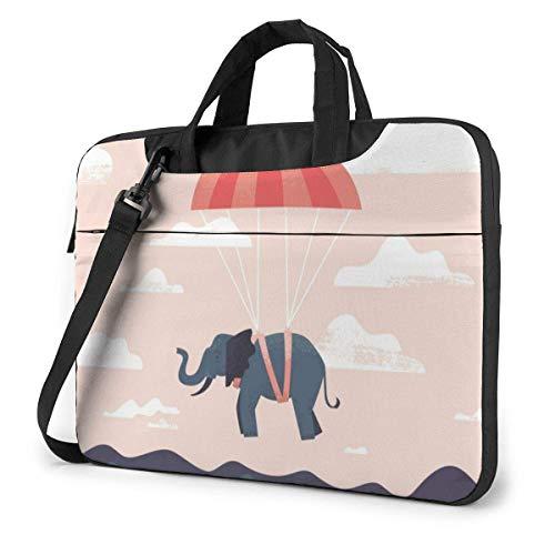 Flying Ele-phant Laptop Bag 14 Inch Shoulder Messenger Bag Computer Tote Briefcase for Work School