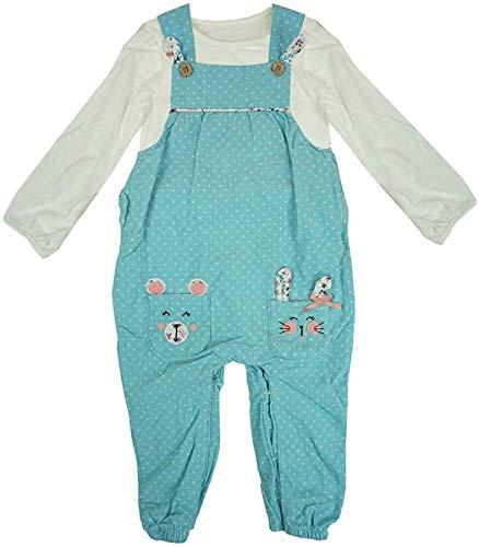 Get Wivvit Mädchen Baby Kleinkind Kaninchen Hase Latzhose & Langarmshirt Größen von Neugeborene bis 24 Monate - Multi, 0-3 Months