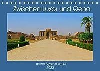 Zwischen Luxor und Qena - antikes Aegypten am Nil (Tischkalender 2022 DIN A5 quer): Unterwegs im antiken Aegypten - historische Bauten am Nil (Monatskalender, 14 Seiten )