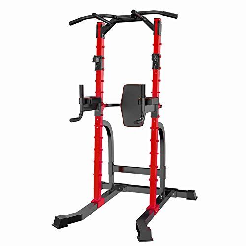 ZENOVA Power Tower Pull up Bar Dip Station Strength Training Equipment for Home Workout Multi-Function Gym Tower Pull Up Push Up Squat Stand