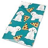 Bichon Frise Pizza Stoff Netter Hund Stoff Beste Hund